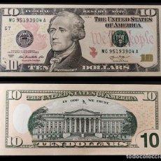 Billetes extranjeros: ESTADOS UNIDOS : 10 DOLARES 2013. SC. UNC. Lote 262936270