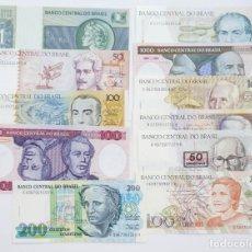 Billetes extranjeros: BRASIL LOTE 11 BILLETES VARIADOS DE 1, 50, 100, 100, 200, 1000 Y 1000 CRUCEIROS 1, 50, 100, Y 500. Lote 223849530