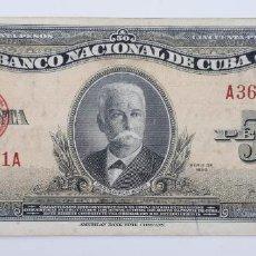 Billetes extranjeros: CUBA. 50 PESOS DE 1950. PICK 81A. Lote 223852120