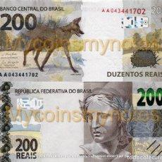 Billetes extranjeros: BRAZIL, 200 REAIS, 2020, PREFIX AA, P-NEW (NOT YET IN CATALOG), UNC. Lote 224083971