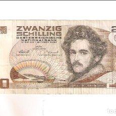 Notas Internacionais: BILLETE DE 20 CHELINES DE AUSTRIA DE 1986. MBC. WORLD PAPER MONEY-148 (BE160). Lote 225032097