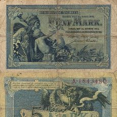 Billetes extranjeros: ALEMANIA - 5 MARCOS - 1904. Lote 243583900