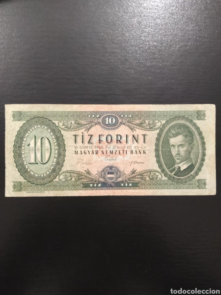 BILLETE 10 FORINT FLORINES 1969 HUNGRÍA (Numismática - Notafilia - Billetes Extranjeros)