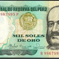 Billetes extranjeros: CMC PERU 1000 SOLES 1981 PICK 122-A SC. Lote 288857208