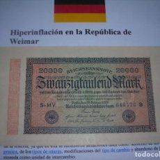 Billetes extranjeros: UN BILLETE ALEMAN (S/C) DE 20.000 MARK 1923. (E.B.C.). Lote 228574025