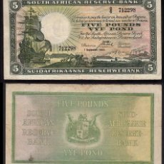 Billetes extranjeros: SUDAFRICA : 5 LIBRAS. Lote 229886620