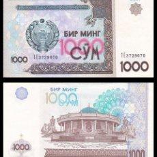 Billetes extranjeros: UZBEKISTAN: 1000 SOM. Lote 230804725