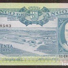 Billetes extranjeros: ANGOLA. BONITO 50 ESCUDOS 10 JUNIO 1962. PICK 93.. Lote 231000005