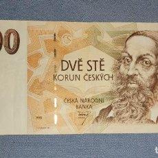 Billetes extranjeros: BILLETE DE CHECOSLOVAQUIA 200 CORONAS AÑO 1993. Lote 231379270