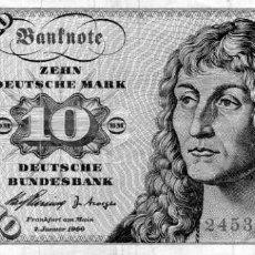 Billetes extranjeros: BILLETE DE 10 MARCOS, 1960. Lote 231748830