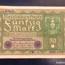 Billetes extranjeros: BONITO BILLETE 50 MARCOS ALEMANIA 1919. Lote 232241850