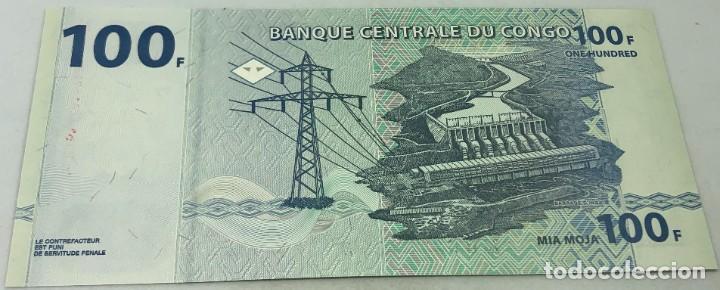 Billetes extranjeros: Billete Congo. 2013. 100 Francos. SC. Sin Circular. Elefante. Posibilidad de números correlativos - Foto 2 - 232920233