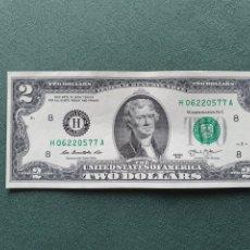 Billetes extranjeros: BILLETE 2 DÓLARES USA. Lote 234469475
