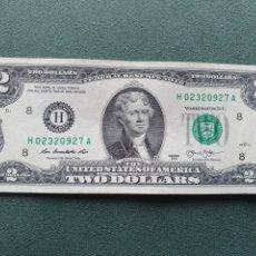 Billetes extranjeros: BILLETE 2 DÓLARES USA. Lote 234469720