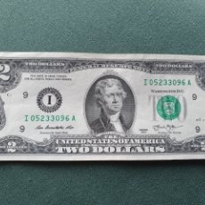 Billetes extranjeros: BILLETE 2 DÓLARES USA. Lote 234470355