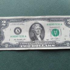 Billetes extranjeros: BILLETE 2 DÓLARES USA. Lote 234471195