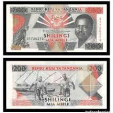 Billets internationaux: TANZANIA 200 SHILLINGI 1993. PICK 25B. SC-. Lote 234679975