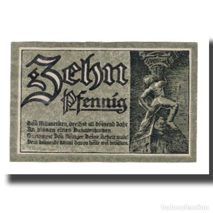 Billetes extranjeros: Billete, Alemania, Goslar Stadt, 10 Pfennig, personnage 4, 1920, 1920-06-01 - Foto 2 - 234896305