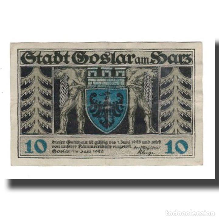 BILLETE, ALEMANIA, GOSLAR STADT, 10 PFENNIG, PERSONNAGE 4, 1920, 1920-06-01 (Numismática - Notafilia - Billetes Extranjeros)