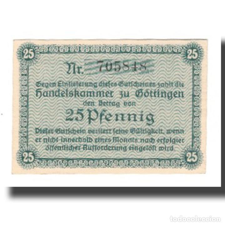 Billetes extranjeros: Billete, Alemania, Göttingen Handelskammer, 25 Pfennig, Texte, 1917 - Foto 2 - 234897130