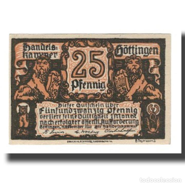 Billetes extranjeros: Billete, Alemania, Göttingen Handelskammer, 25 Pfennig, Clocher 1, 1920 - Foto 1 - 234897140