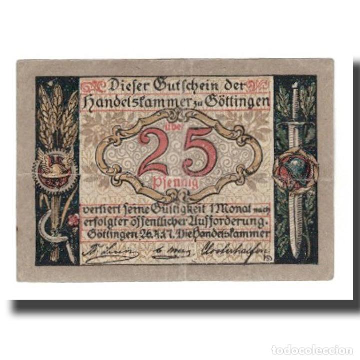 BILLETE, ALEMANIA, GÖTTINGEN HANDELSKAMMER, 25 PFENNIG, PERSONNAGE 1, UNDATED (Numismática - Notafilia - Billetes Internacionales)