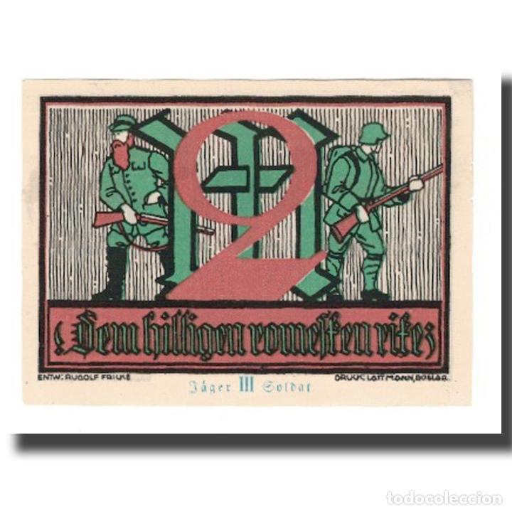 Billetes extranjeros: Billete, Alemania, Goslar Stadt, 2 Mark, personnage 2, 1922, 1922-07-02, EBC - Foto 2 - 234897930