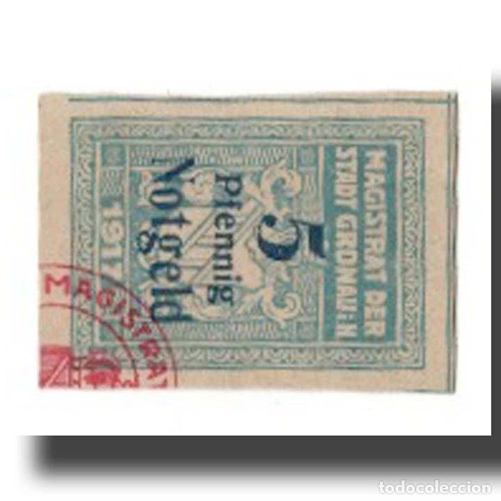 BILLETE, ALEMANIA, GRONAU I.H. STADT, 5 PFENNIG, N.D, 1920, EBC, MEHL:G47.3 (Numismática - Notafilia - Billetes Extranjeros)