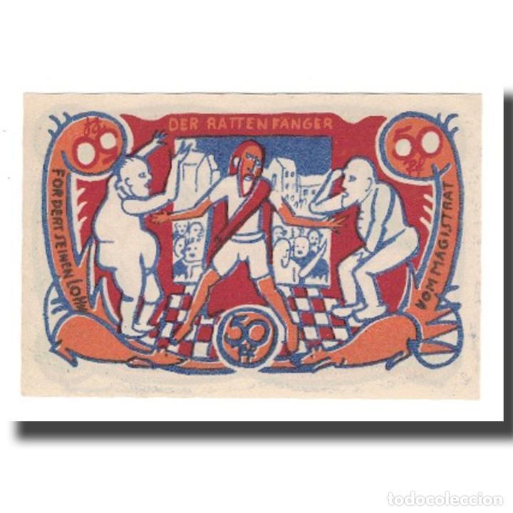 Billetes extranjeros: Billete, Alemania, Hameln Stadt, 50 Pfennig, personnage 3, 1922, 1922-04-01 - Foto 2 - 234898210