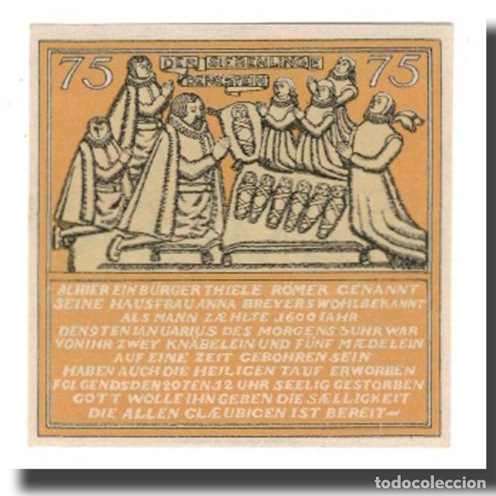 Billetes extranjeros: Billete, Alemania, Hameln Stadt, 75 Pfennig, personnage 1, 1921, 1921-06-01 - Foto 2 - 234899290