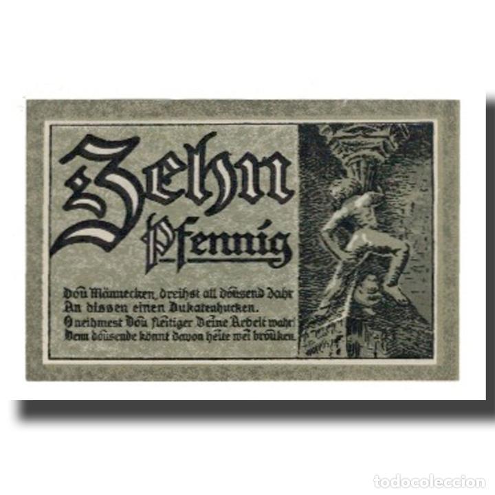 Billetes extranjeros: Billete, Alemania, Goslar Stadt, 10 Pfennig, personnage, 1920, 1920-06-01, EBC - Foto 2 - 234899300