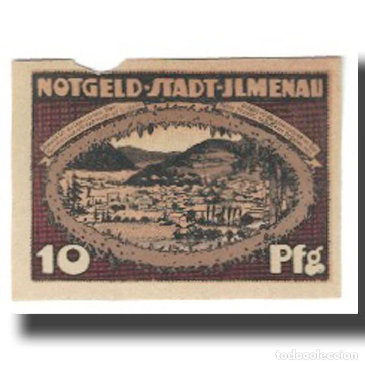 Billetes extranjeros: Billete, Alemania, Ilmenau Stadt, 10 Pfennig, paysage, 1921, 1921-01-01, MBC - Foto 2 - 234899305