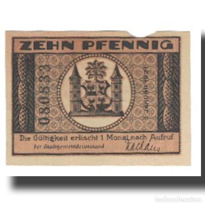 BILLETE, ALEMANIA, ILMENAU STADT, 10 PFENNIG, PAYSAGE, 1921, 1921-01-01, MBC (Numismática - Notafilia - Billetes Extranjeros)