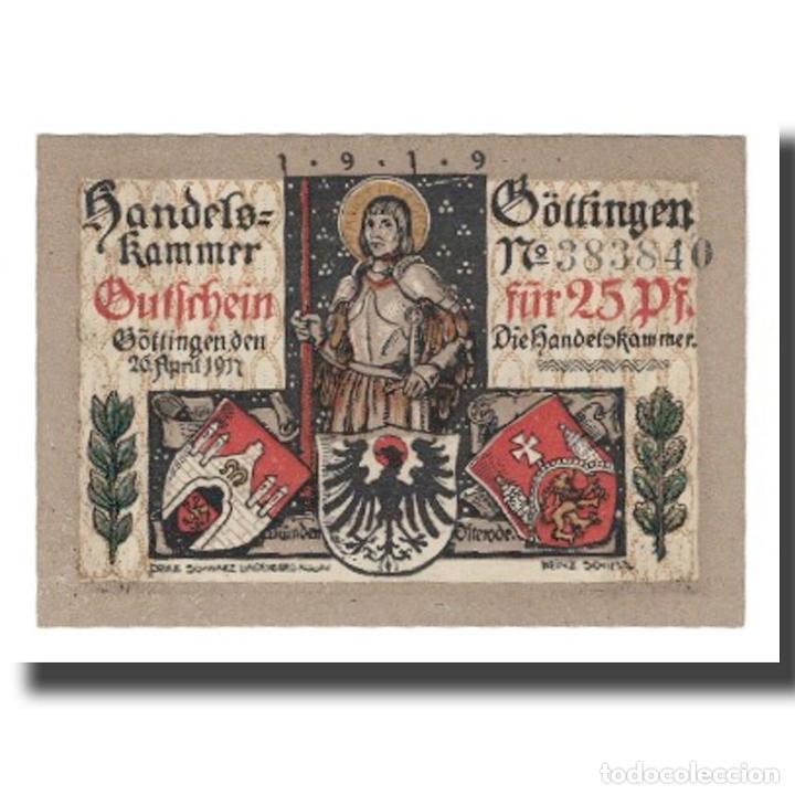 Billetes extranjeros: Billete, Alemania, Göttingen Handelskammer, 25 Pfennig, personnage 4, Undated - Foto 2 - 234899740
