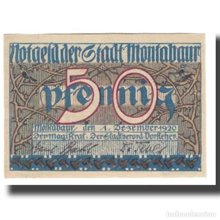 BILLETE, ALEMANIA, MONTABAUR, 50 PFENNIG, BLASON, 1920, 1920-12-01, UNC (Numismática - Notafilia - Billetes Extranjeros)