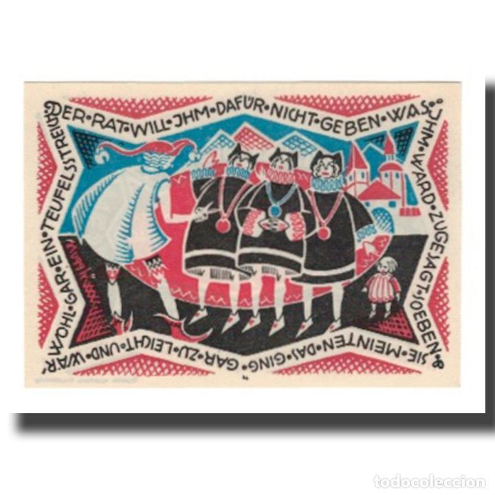 Billetes extranjeros: Billete, Alemania, Hameln Stadt, 50 Pfennig, personnage 2, 1921, 1921-09-01 - Foto 2 - 234896300