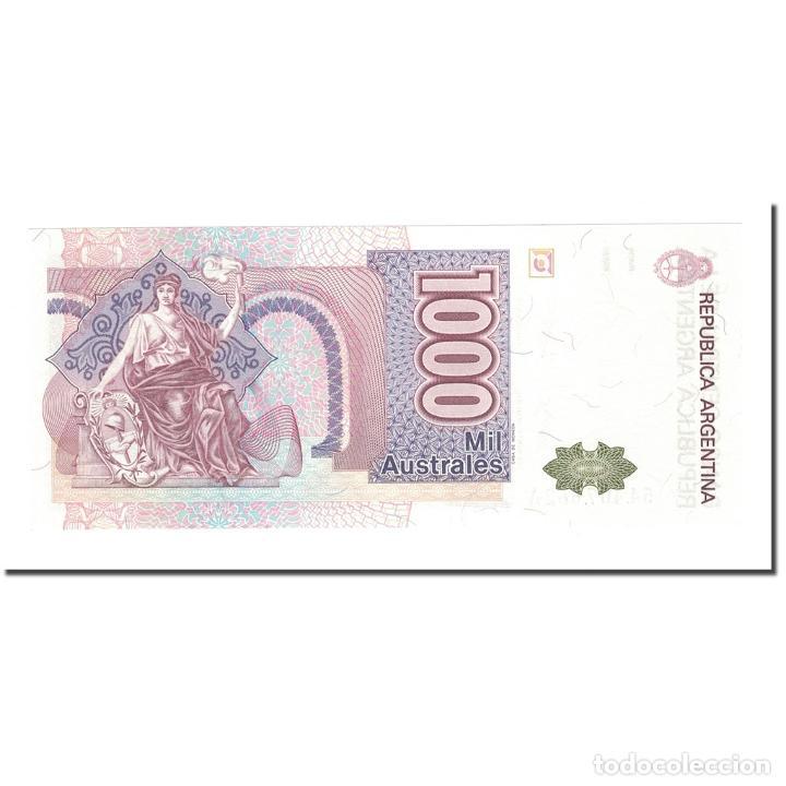 Billetes extranjeros: Billete, 1000 Australes, Argentina, KM:329a, UNC - Foto 2 - 234896610