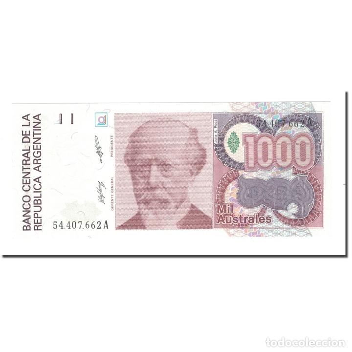 BILLETE, 1000 AUSTRALES, ARGENTINA, KM:329A, UNC (Numismática - Notafilia - Billetes Extranjeros)