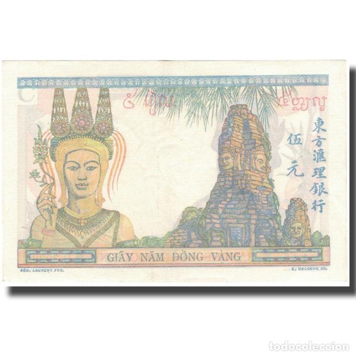 Billetes extranjeros: Billete, 5 Piastres, 1932, INDOCHINA FRANCESA, KM:53a, EBC+ - Foto 2 - 234934810