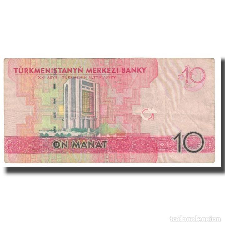 Billetes extranjeros: Billete, 10 Manat, 2009, Turkmenistán, KM:24b, MBC - Foto 2 - 234935060