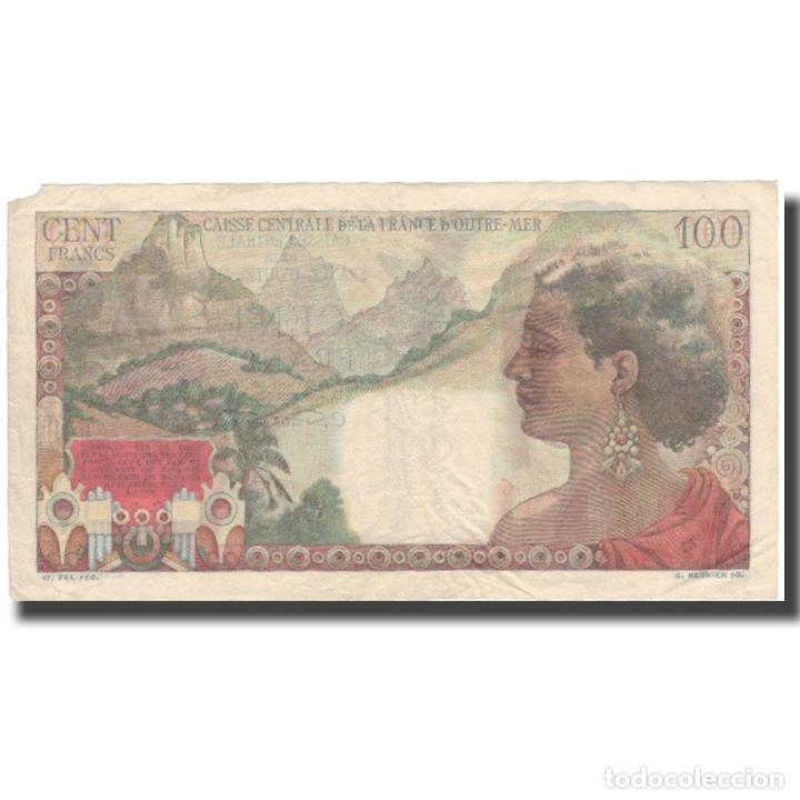 Billetes extranjeros: Billete, 100 Francs, Undated (1947), África ecuatorial francesa, KM:24, BC+ - Foto 2 - 234935640