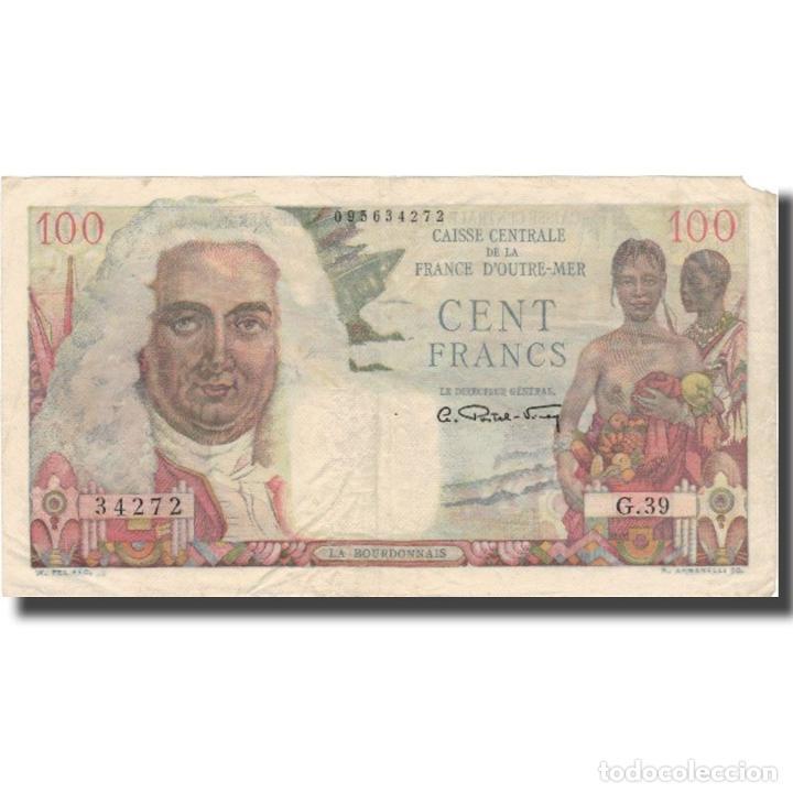 BILLETE, 100 FRANCS, UNDATED (1947), ÁFRICA ECUATORIAL FRANCESA, KM:24, BC+ (Numismática - Notafilia - Billetes Extranjeros)