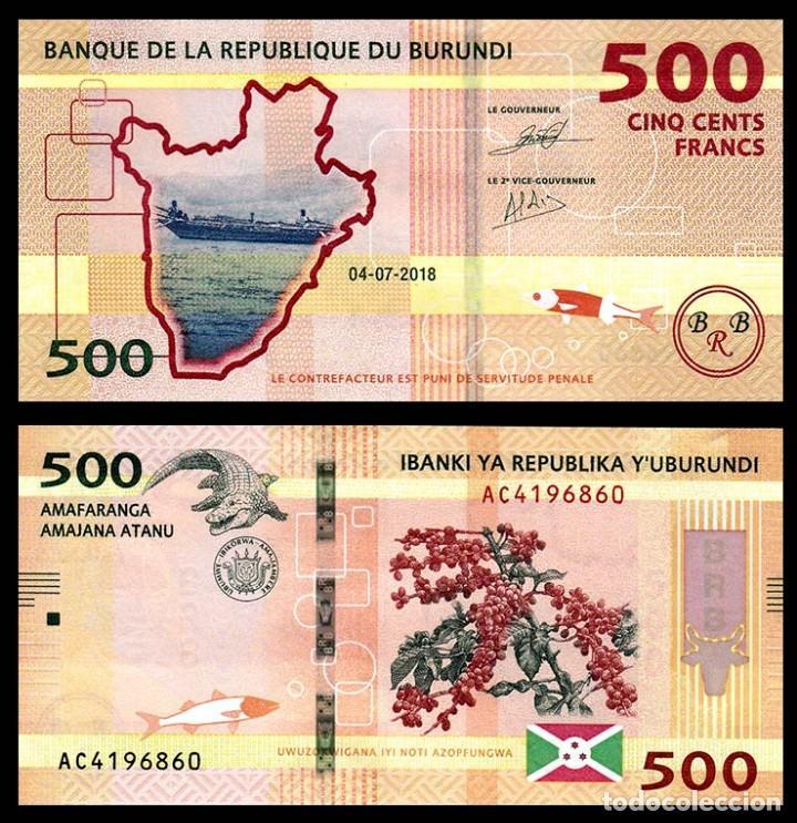 BURUNDI: 500 FRANCOS. SC. UNC (Numismática - Notafilia - Billetes Extranjeros)