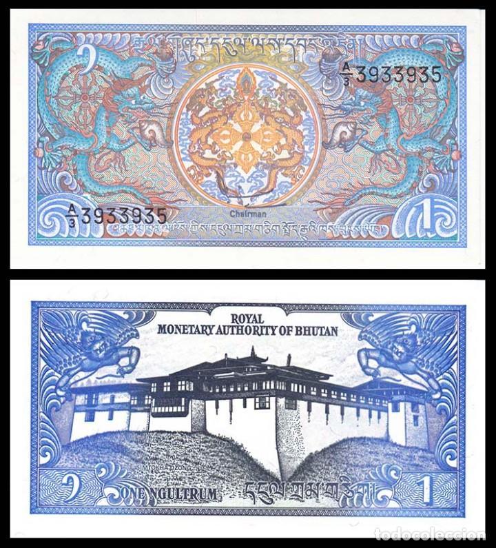 BUTAN: 1 NGULTRUM. SC. UNC (Numismática - Notafilia - Billetes Extranjeros)