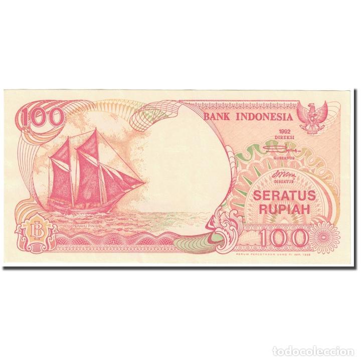 BILLETE, 100 RUPIAH, 1995, INDONESIA, 1995 (OLD DATE : 1992)., KM:127D, UNC (Numismática - Notafilia - Billetes Extranjeros)