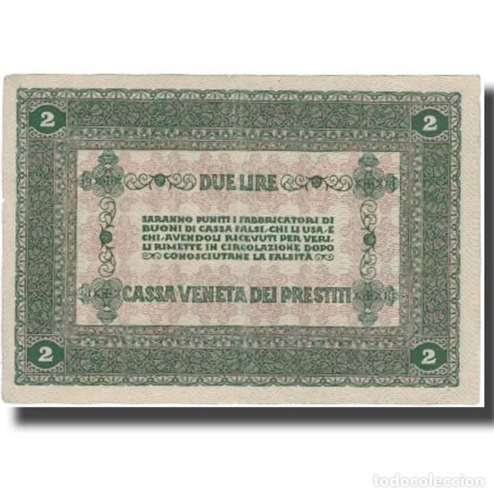 Billetes extranjeros: Billete, 2 Lire, 1918, Italia, 1918-01-02, MBC+ - Foto 2 - 234941455