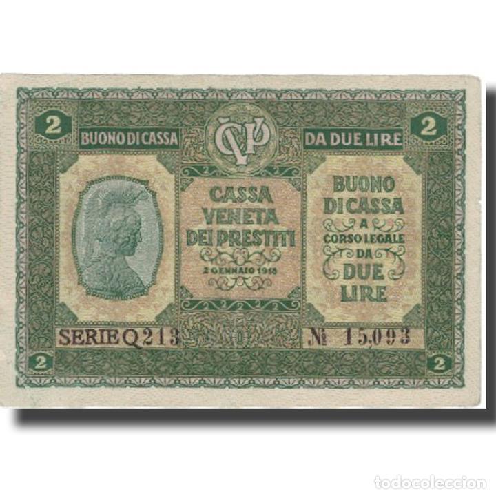 BILLETE, 2 LIRE, 1918, ITALIA, 1918-01-02, MBC+ (Numismática - Notafilia - Billetes Extranjeros)