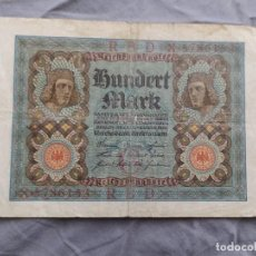Billetes extranjeros: ALEMANIA 100 MARCOS 1920. Lote 235472020
