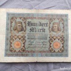 Billetes extranjeros: ALEMANIA 100 MARCOS 1920. Lote 235472210