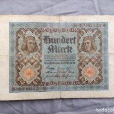 Billetes extranjeros: ALEMANIA 100 MARCOS 1920. Lote 235472360